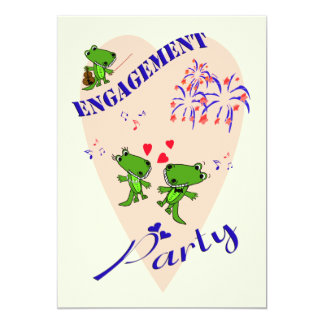 Cute Alligator Engagement Party Invitation