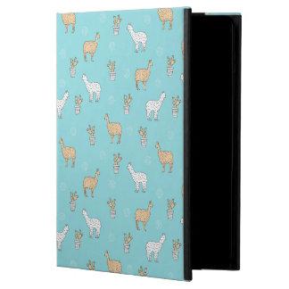 Cute Alpaca Llama Cactus Pattern Cover For iPad Air