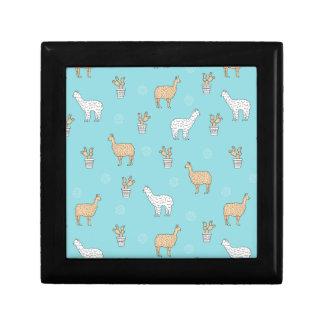 Cute Alpaca Llama Cactus Pattern Gift Box
