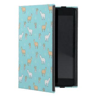Cute Alpaca Llama Cactus Pattern iPad Mini Cover