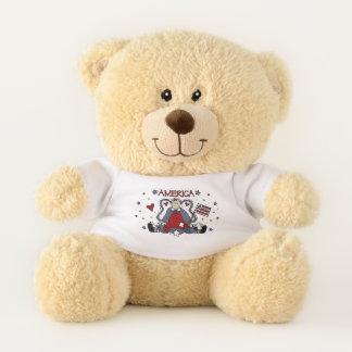 Cute Americana Angel Teddy Bear