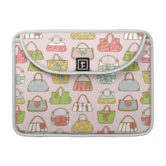 Cute and Colorful Bags Illustration Pattern Sleeve For MacBooks