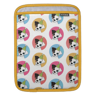 Cute and Colorful Birthday Jack Russell Pattern iPad Sleeve