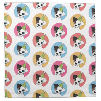 Cute and Colorful Birthday Jack Russell Pattern Napkin