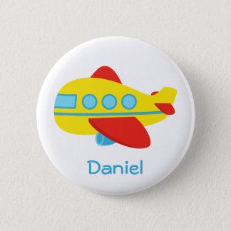 Cute and Colourful Passenger Aeroplane 6 Cm Round Badge