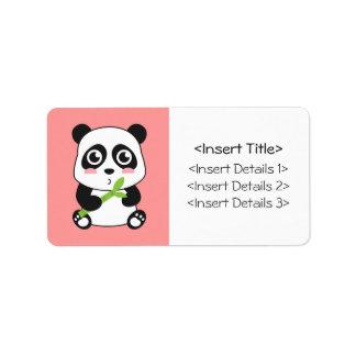 Cute and Cuddly Baby Panda Address Label