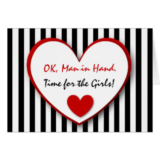 Cute and Funny Be My Bridesmaid BLACK STRIPES V05 Greeting Card