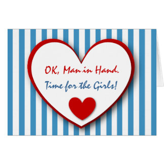 Cute and Funny Be My Bridesmaid BLUE STRIPES V06 Greeting Card