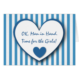 Cute and Funny Be My Bridesmaid BLUE STRIPES V07 Card