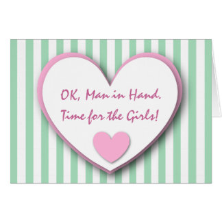Cute and Funny Be My Bridesmaid GREEN STRIPES V03 Card