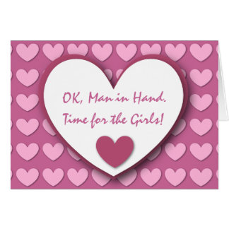 Cute and Funny Be My Bridesmaid PINK HEARTS V03 Greeting Cards
