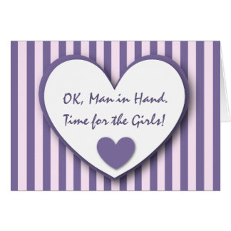 Cute and Funny Be My Bridesmaid PURPLE STRIPES V08 Greeting Cards