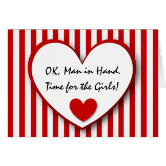 Cute and Funny Be My Bridesmaid RED STRIPES V06 Card