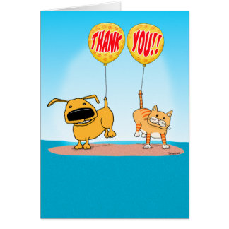 Cute and Funny Thank You Card