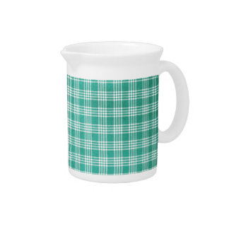Cute and Green Plaid Pitcher