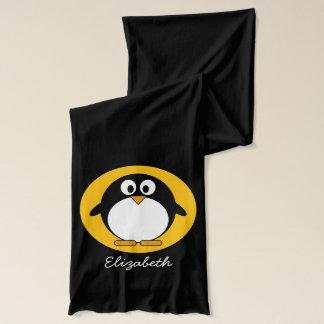 Cute and Modern Cartoon Penguin Scarf