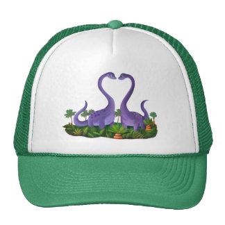 Cute and Romantic Dinosaurs Cap