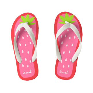 Cute and Sweet Pink Strawberry for Girl Kid's Jandals