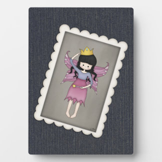 Cute and Whimsical Little Fairy Princess Girl Plaque