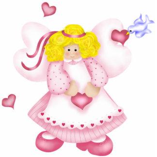 Cute Angel Hearts Photo Sculpture 1