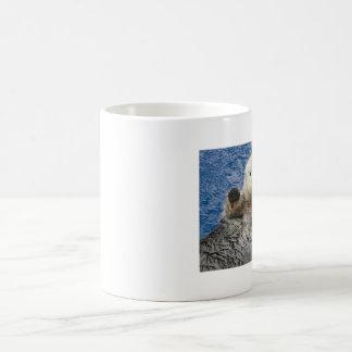 cute animal basic white mug