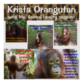 Cute Animal Beauty Pageant Queen Krista O Poster