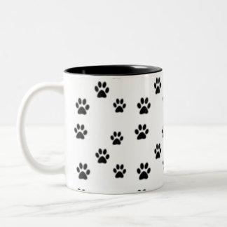 Cute animal paw prints design coffee mug