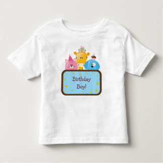 Cute Animals Birthday Boy Customizable Toddler T-Shirt
