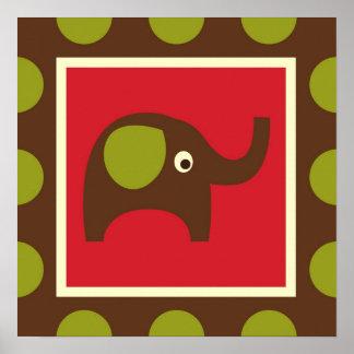Cute Animals Elephant Poster