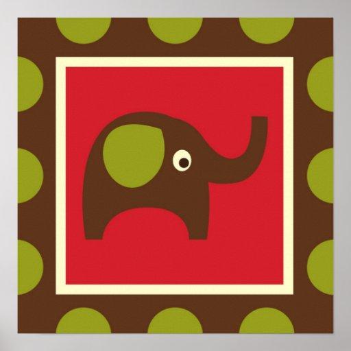 Cute Animals Elephant Print