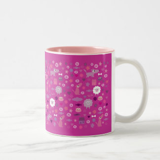 Cute Animals & Fun Stuff For Girls Pink Mug