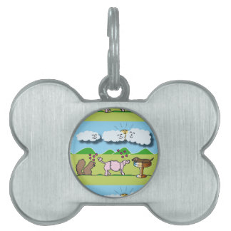 Cute Animals Pet Name Tag
