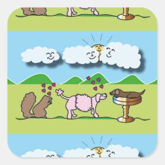 Cute Animals Square Sticker