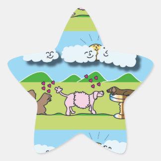 Cute Animals Star Sticker