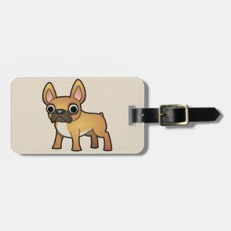 Cute animated French Bulldog Luggage Tag