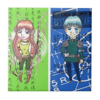 Cute Anime Art Tile