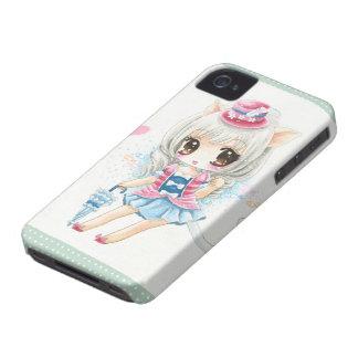 Cute anime cat girl Case-Mate iPhone 4 case