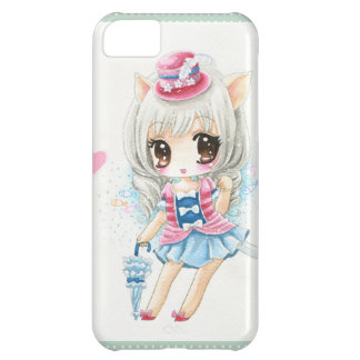 Cute anime cat girl iPhone 5C case