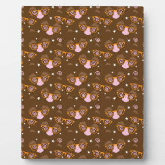 Cute April fools pattern design Plaque