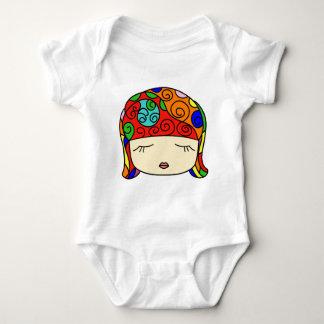 Cute as a Button Sleepy Head Girl Baby Bodysuit