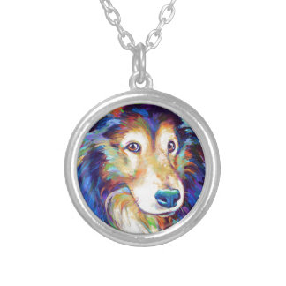 Cute Australian Shepherd Silver Plated Necklace