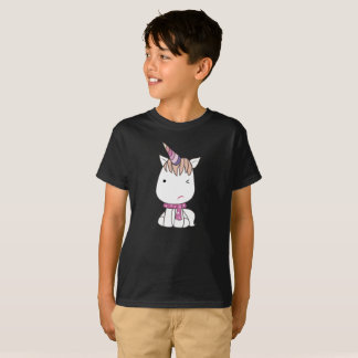 Cute Awkward White Colourful Unicorn Kids T-Shirt