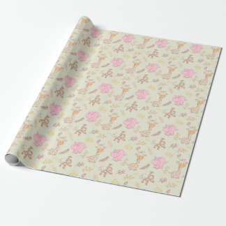 Cute Baby Animals Cute Baby Girl Wrapping Paper
