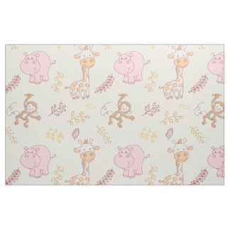 Cute Baby Animals for a Cute Baby Girl Fabric 3