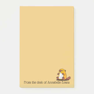 Cute Baby Beaver Post-it Notes