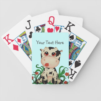 Cute Baby Cow Playing Cards