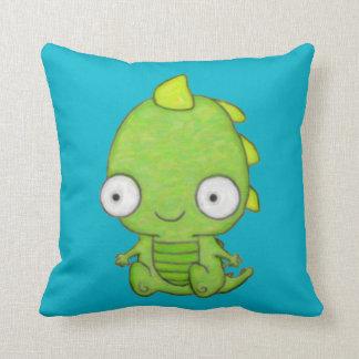 Cute Baby Dragon Throw Pillow