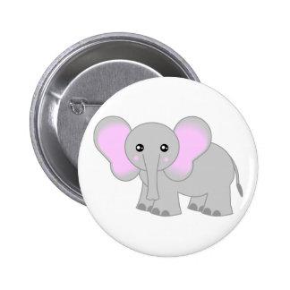 Cute Baby Elephant 6 Cm Round Badge