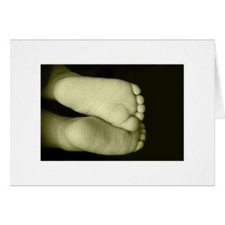 Cute Baby Feet  Unisex Yellow Baby Card