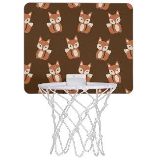Cute Baby Fox Animal Print Pattern Mini Basketball Hoop